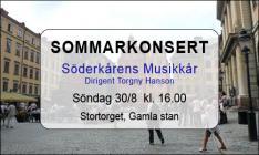SOMMARKONSERT SÖDERKÅRENS MUSIKKÅR